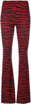 MM6 MAISON MARGIELA zebra stripe printed flared trousers - women - Spandex/Elastane/Viscose - XS