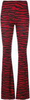 MM6 MAISON MARGIELA zebra stripe printed flared trousers