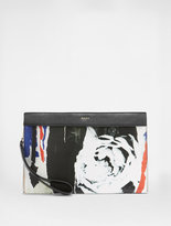DKNY Ripped Rose Clutch