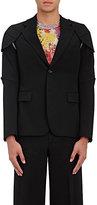 Comme des Garcons Men's Wool Two-Button Sportcoat-BLACK