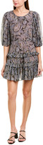 Rebecca Taylor Tiered Silk-Blend A-Line Dress