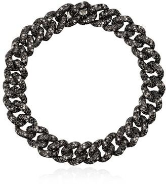 Shay 18kt Gold And Black Diamond Chain Link Bracelet