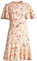 Michael Kors Stemmed Floral Stretch Cady Sheath Dress