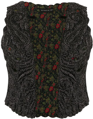 Etro Embroidered Cropped Vest