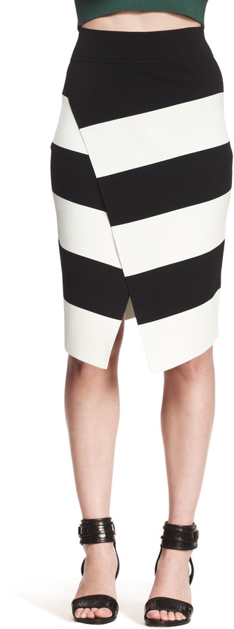 A.L.C. Campbell Striped Crossover Skirt