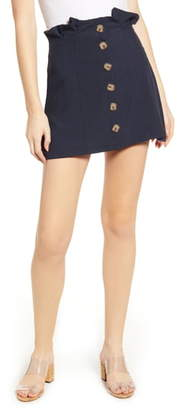 Bishop + Young Button Front Miniskirt