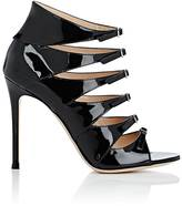 Gianvito Rossi Women's Vernero Patent Leather Multi-Strap Ankle Booties
