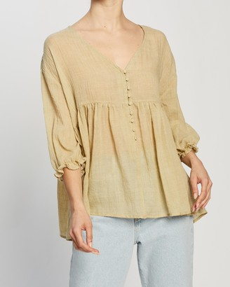 Atmos & Here Whitney Cotton Relaxed Top