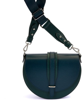 Atelier Hiva Arcus Leather Bag Forest Green & Petrol Blue