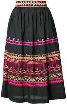 Temperley London embroidered midi skirt