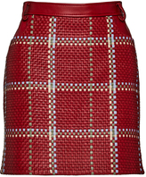 Magda Butrym High Rise Woven Leather Mini Skirt