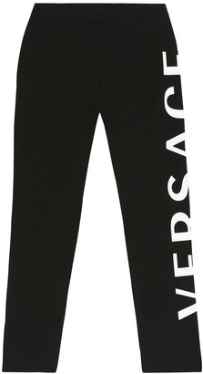 Versace Kids Stretch-cotton leggings