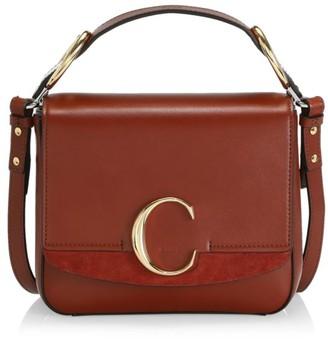 Chloé Small C Leather Crossbody Bag
