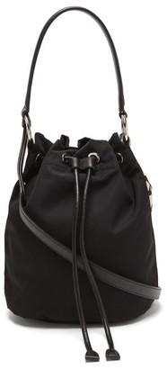 Stella McCartney Logo-applique Twill Bucket Bag - Black