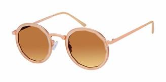 Tahari Women's TH736 Round Metal Sunglasses with 100% UV Protection 51 mm