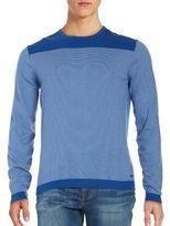 HUGO BOSS Roff Striped Contrast Sweater