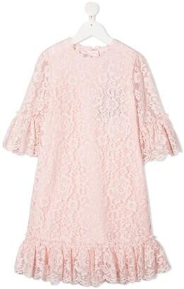 Dolce & Gabbana Kids Lace Ruffle-Trim Dress
