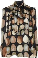 Co Printed Silk Satin Shirt