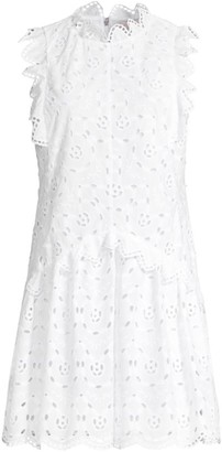 Rebecca Taylor Mina Sleeveless Eyelet Dress