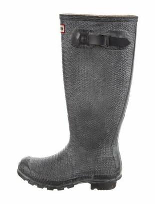 Hunter Rubber Rain Boots Grey
