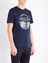 HUGO BOSS Logo print cotton t-shirt