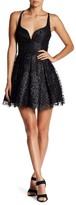 Jump Glitter Rose Mesh Short Ball Gown