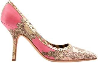 Roberto Cavalli Pink Cloth Heels