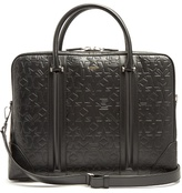 Givenchy Logo And Star-debossed Leather Briefcase