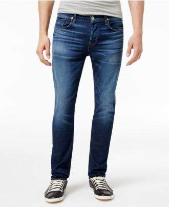 Hudson Stretch Jeans Sartor Men's Sartor Slouchy Skinny-Fit Salt Water Wash Stretch Jeans