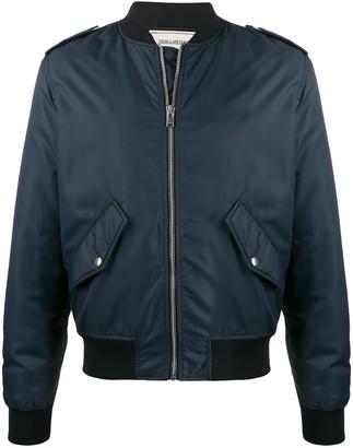 Zadig & Voltaire Benet embroidered logo bomber jacket