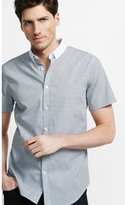 Express Fitted Graph Check Contrast Collar Shirt