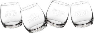 Cathy's Concepts With a Twist Set of 4 Tipsy Whiskey Glasses