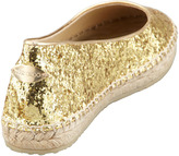 Jimmy Choo POW Glitter Espadrille, Gold