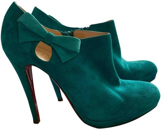 Christian Louboutin Turquoise Suede Ankle boots