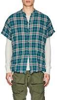 Greg Lauren Men's Plaid Cotton Studio Shirt