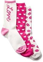 Gap Cozy love crew socks (3-pack)