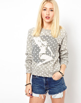 Worn By Pin Up Polka Dot Sweatshirt