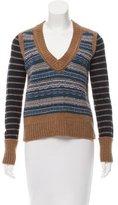 Tory Burch Wool Rib Knit Sweater