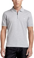Salvatore Ferragamo Zip Polo, Gray