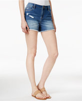 Calvin Klein Jeans Ripped Bright Sky Wash Shorts