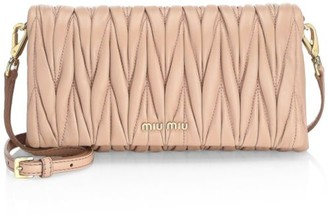 Miu Miu Mini Matelasse Leather Wristlet