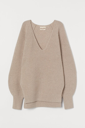 H&M Rib-knit Wool Sweater