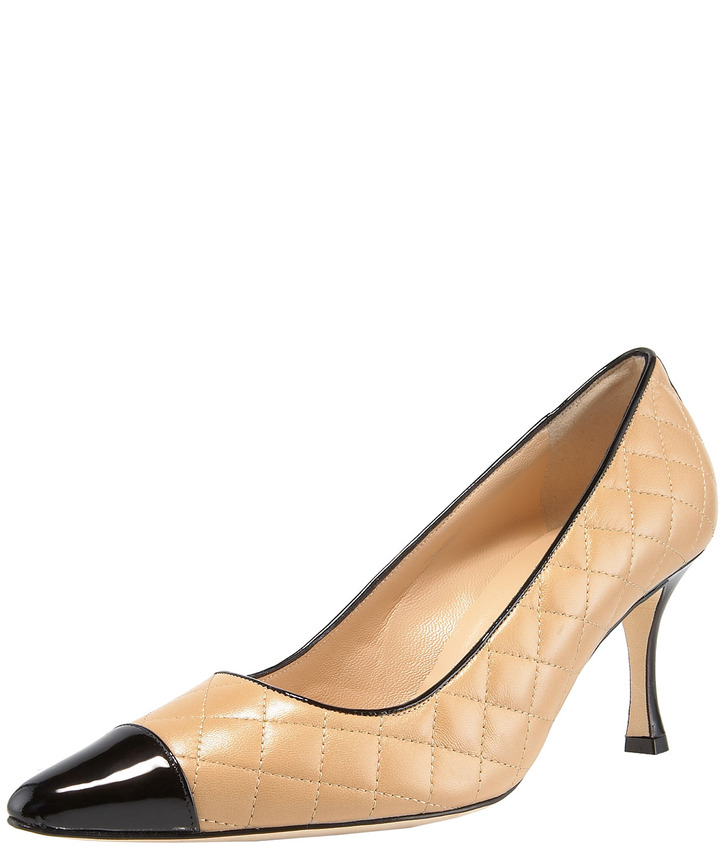 Manolo Blahnik Irie Patent-Toe Quilted Pump