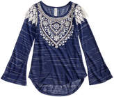 Beautees Lace-Shoulder Top, Big Girls (7-16)