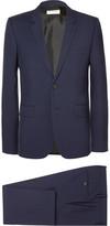 Saint Laurent Navy Slim-fit Virgin Wool-gabardine Suit - Navy