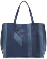 under one sky Blue Patchwork Reversible Tote