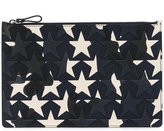 Valentino star-print clutch bag - men - Cotton/Leather - One Size