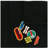 DSQUARED2 patch detail pocket scarf - men - Wool - One Size
