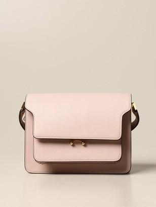 Marni Trunk Shoulder Bag In Leather