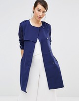 Lavand Soft Drapey Trench Coat